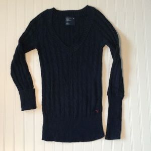 American Eagle Cable Knit Pullover Sweater